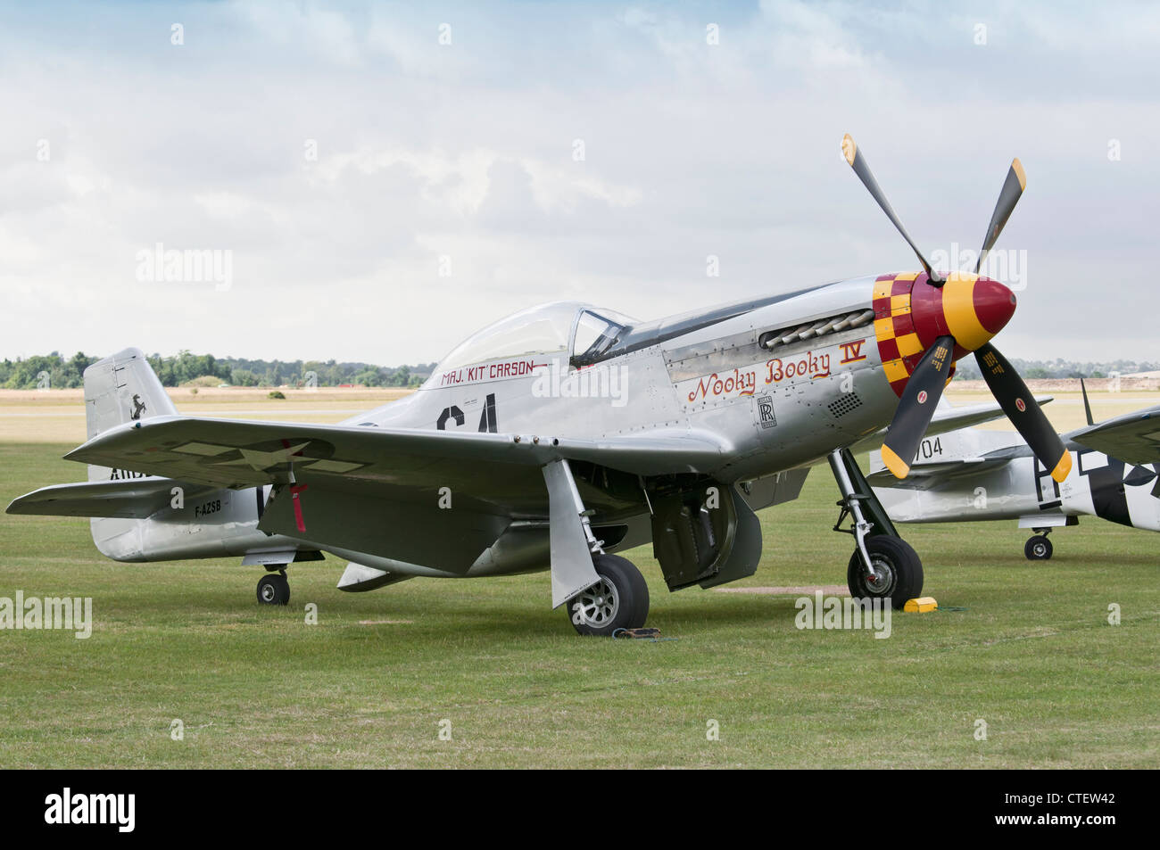 P-51 Mustang 'Nooky Booky IV' at the Flying Legends Airshow 2011, Imperial War Museum, Duxford - Stock Image