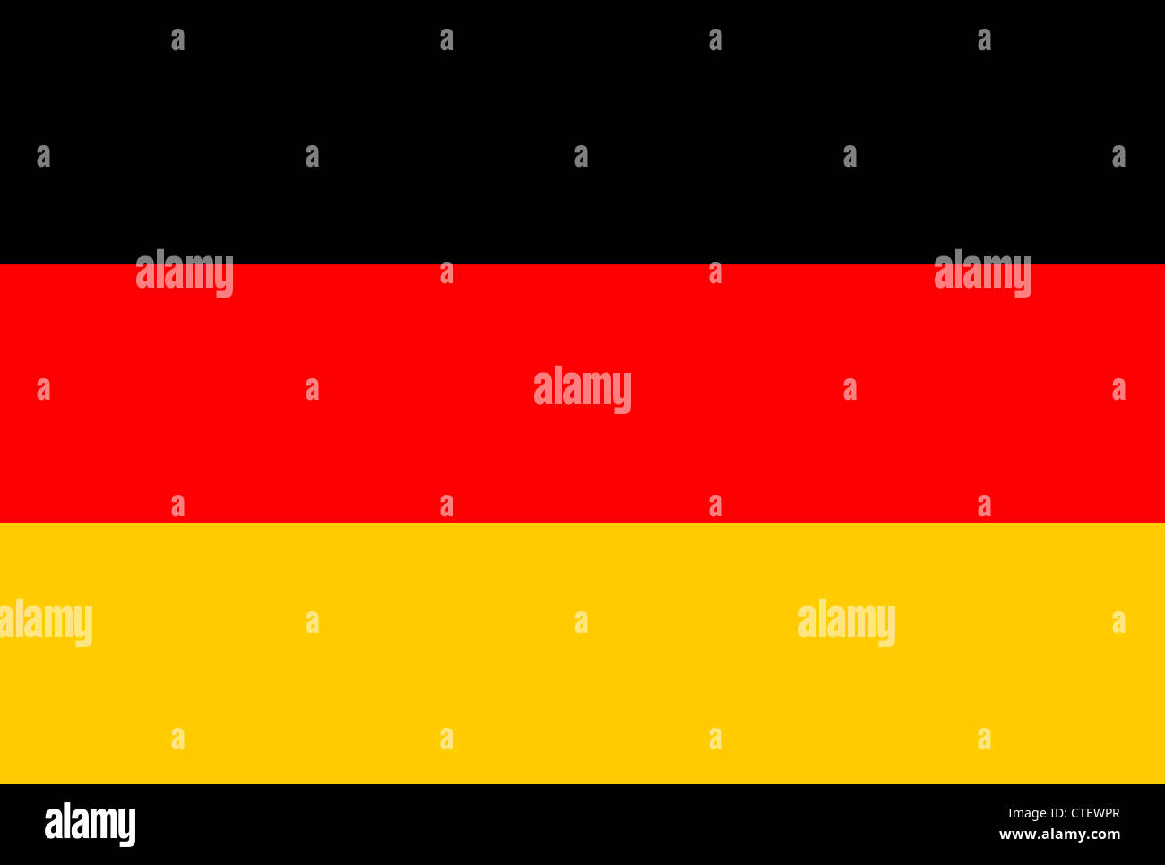 An image of the national flag of Germany - Stock Image