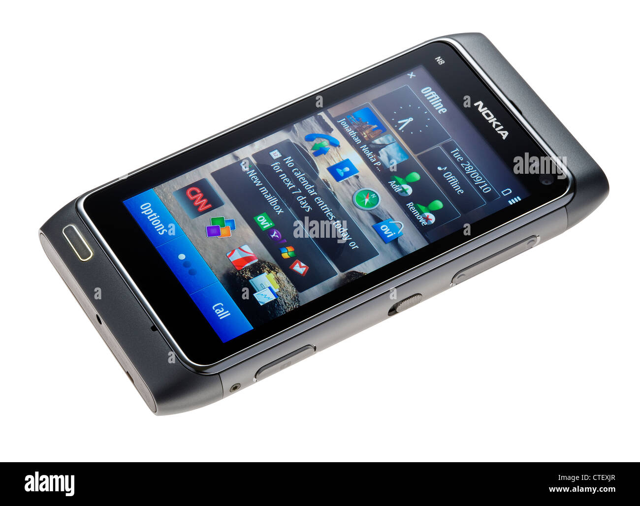 Nokia N8 mobile telephone cellphone - Stock Image