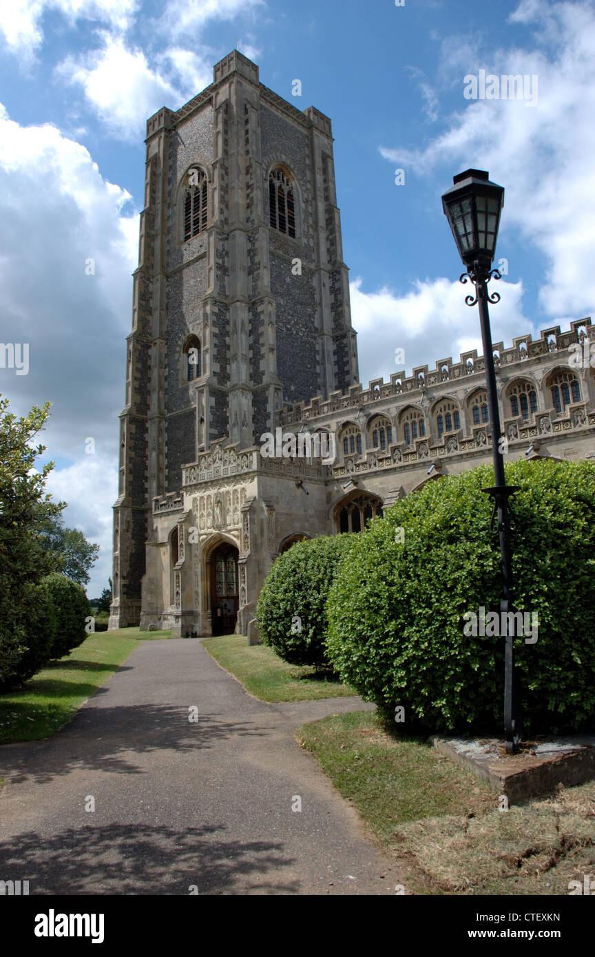 Lavenham church, Suffolk, UK - Stock Image