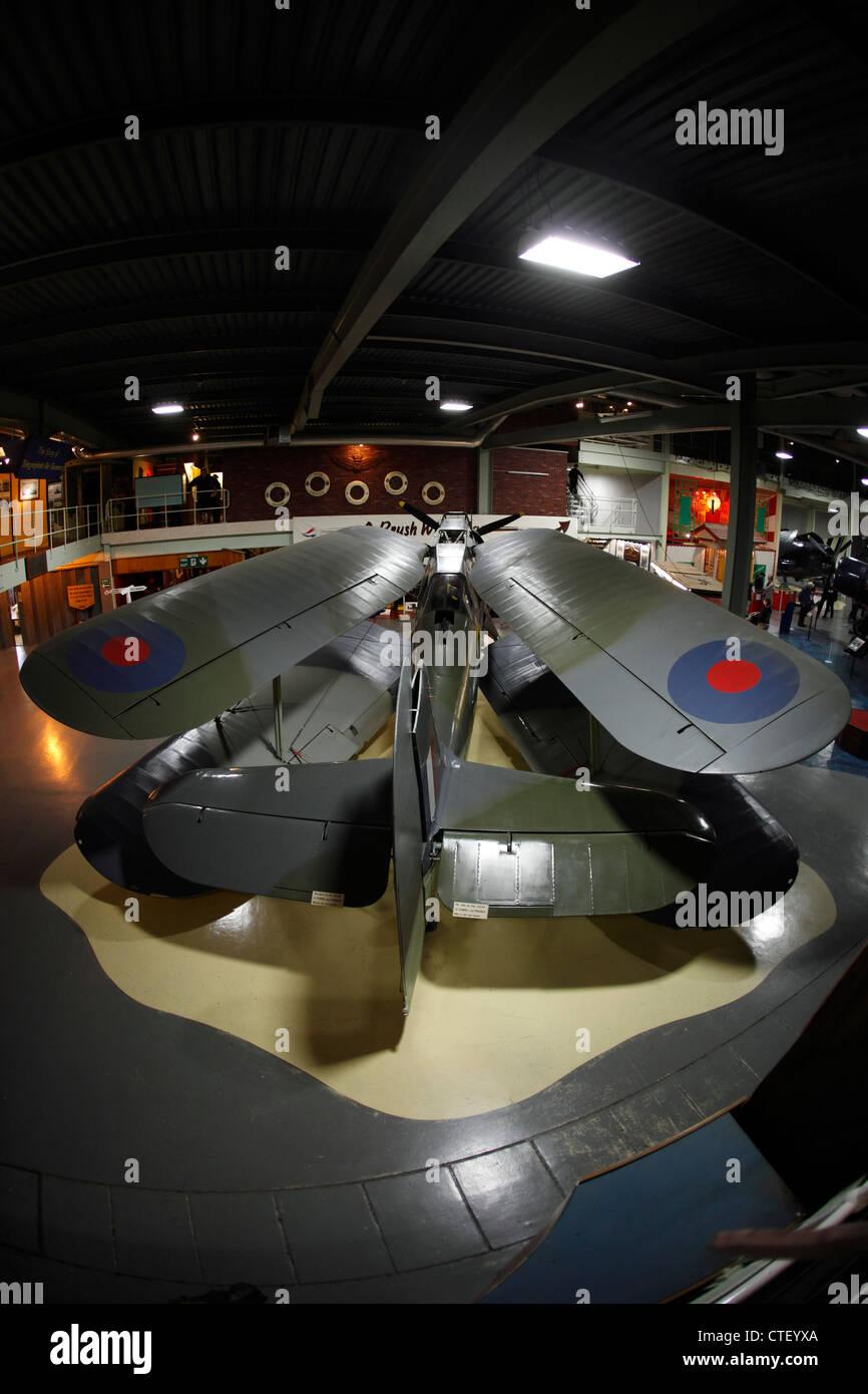 swing wing, carrier bi-plane. British - Stock Image