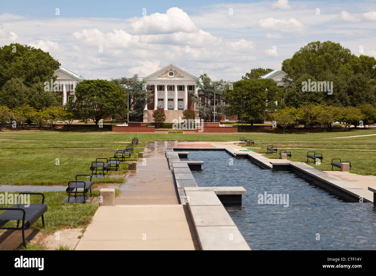University of Maryland, McKeldin Mall Fountain - Stock Image