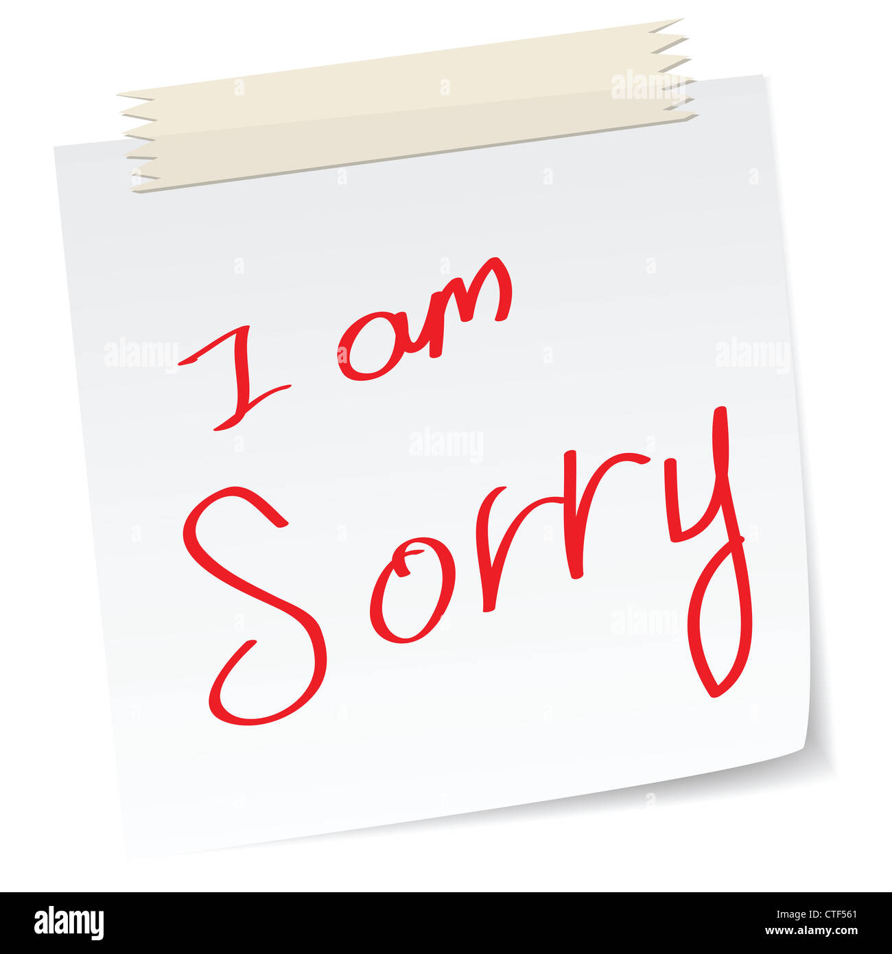 a handwritten notes with i am sorry message