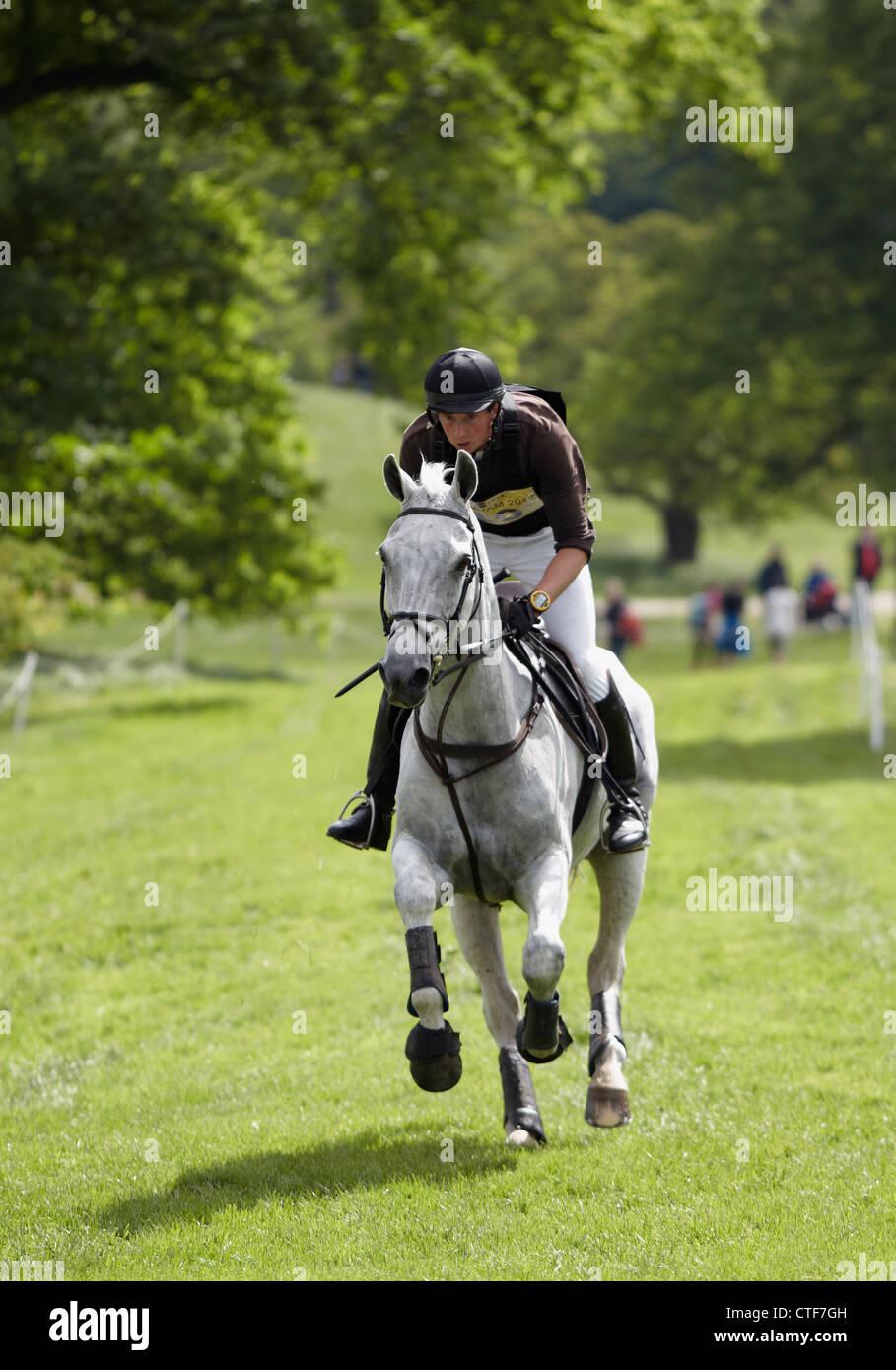 HORSE AND RIDER BRAMHAM HORSE TRIALS 2012 - Stock Image