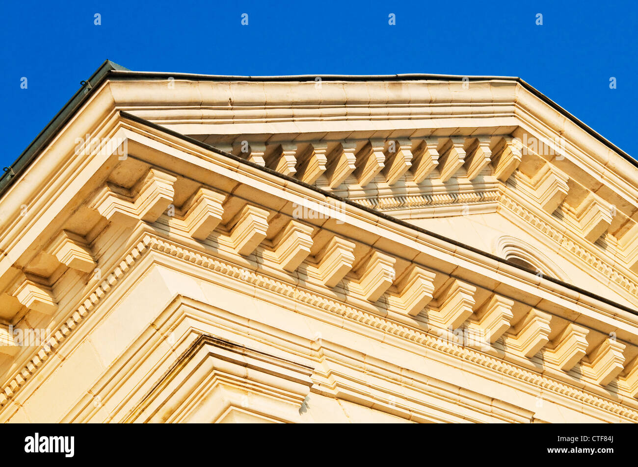 Town Hall / Mairie / Hotel de Ville classical architectural details - France. - Stock Image