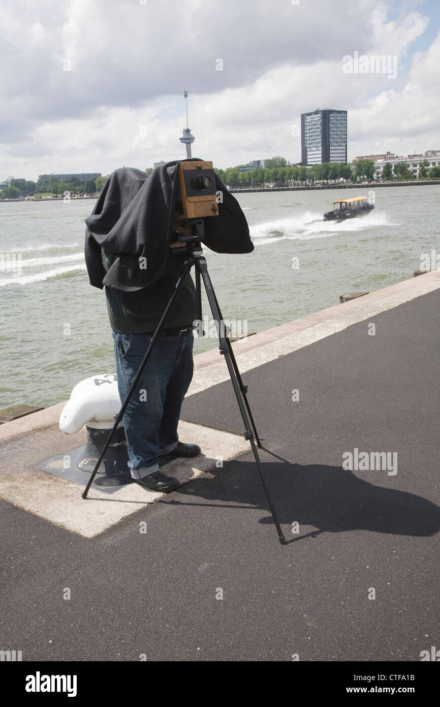 Photographer large format camera photography - Stock Image