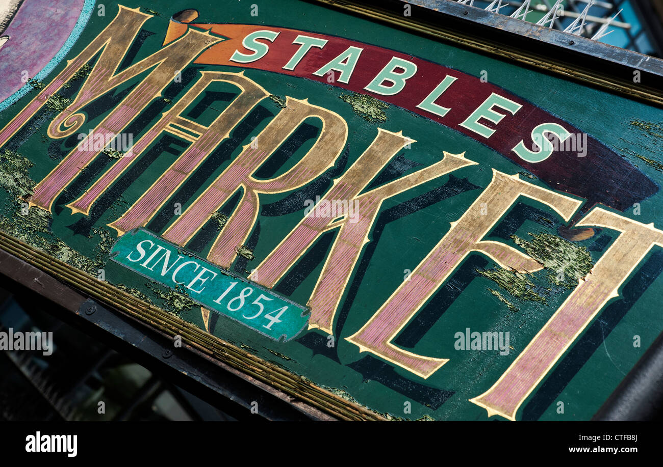 Stables Market sign. Camden Town. London - Stock Image