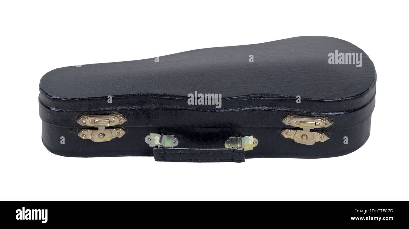 Music case with handle used for carrying and storing musical instruments - path included - Stock Image