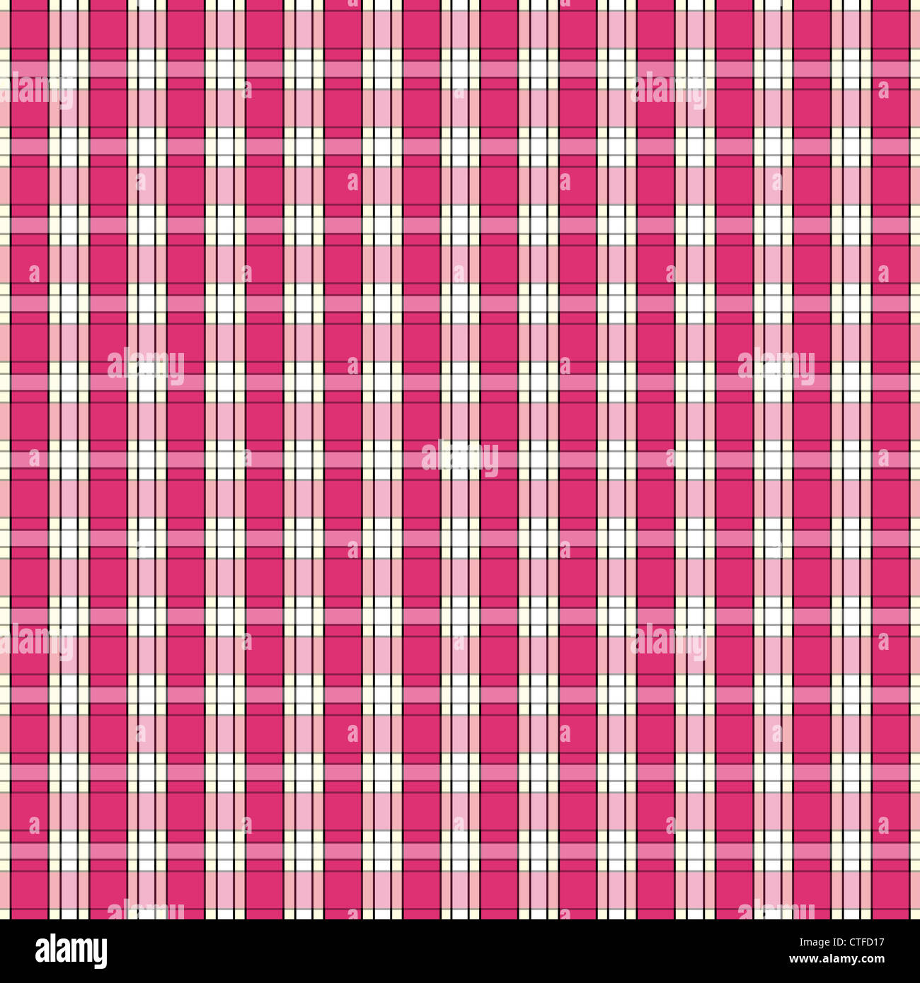 Plaid pattern in pink and white Stock Photo