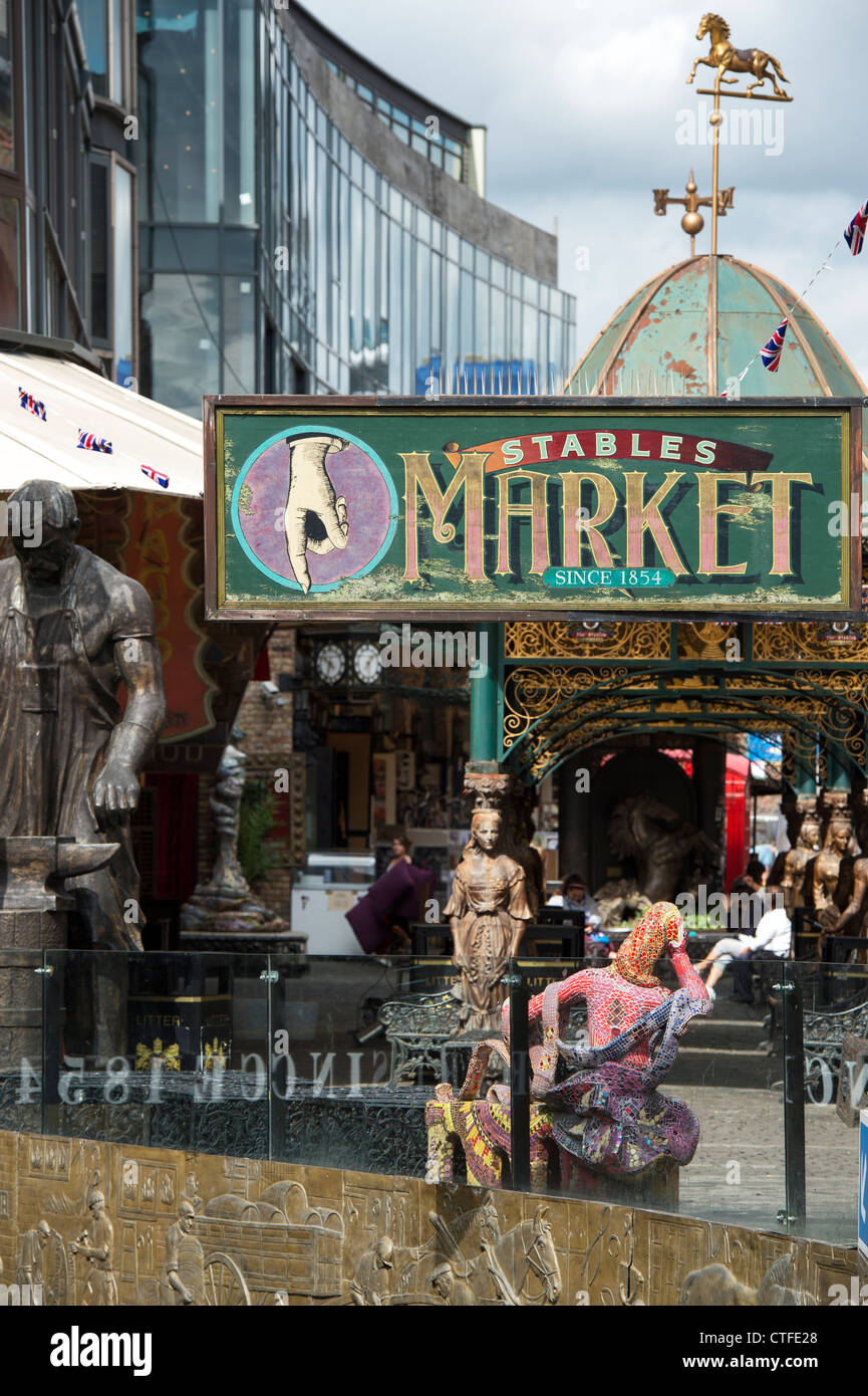 Stables Market. Camden Town. London - Stock Image