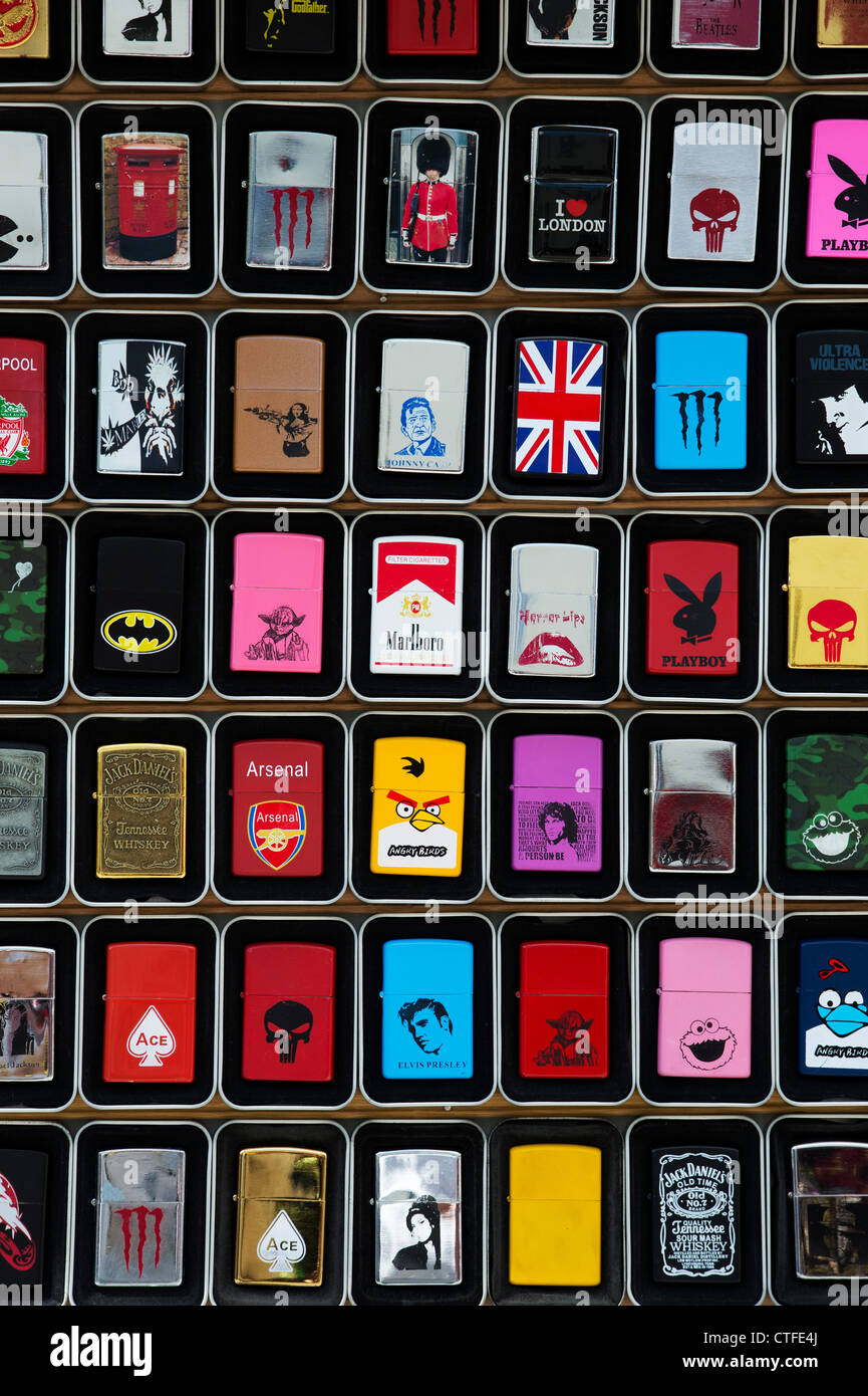 Zippo lighters pattern. London - Stock Image