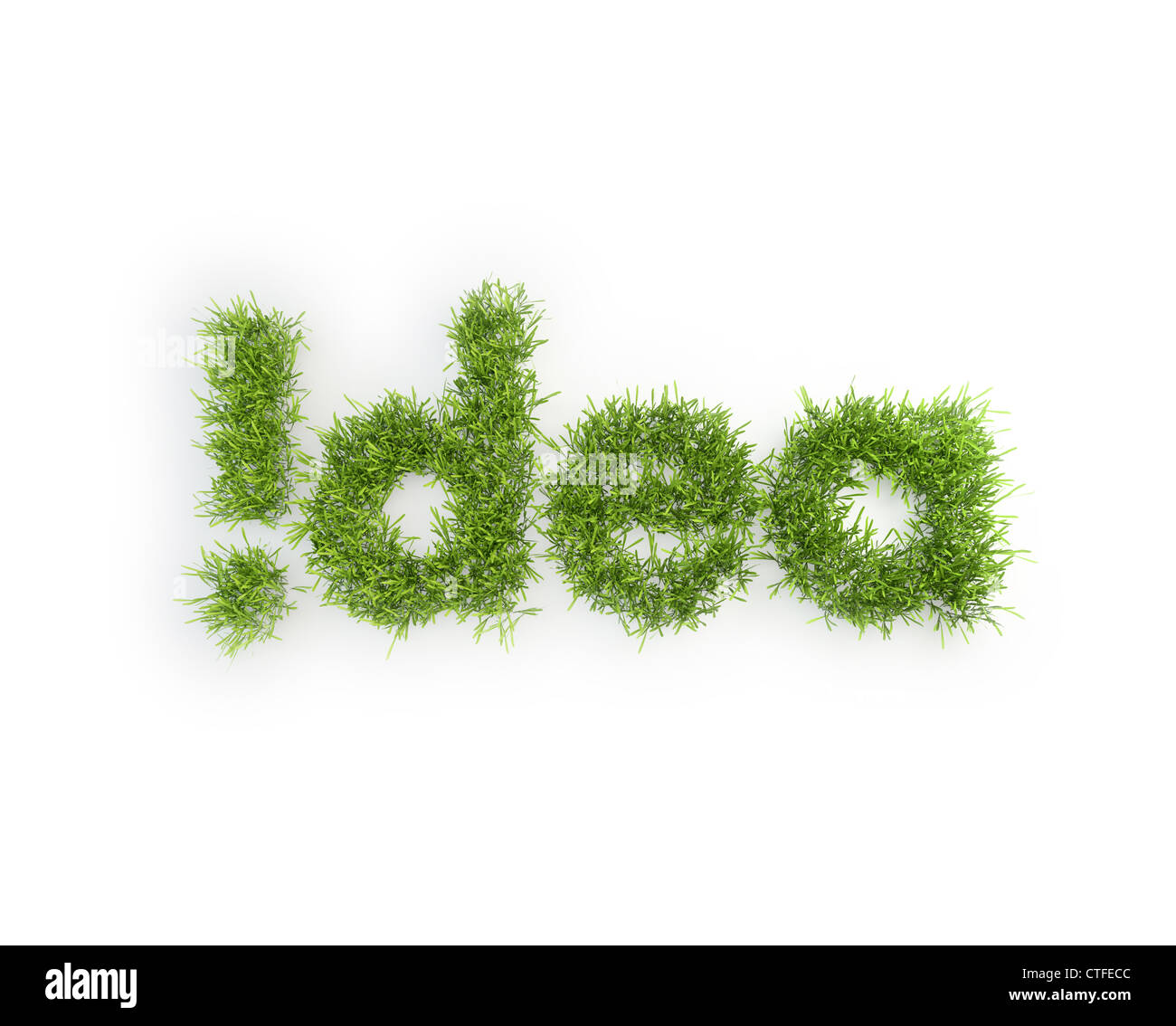 Idea grass patch - creativity concept - Stock Image
