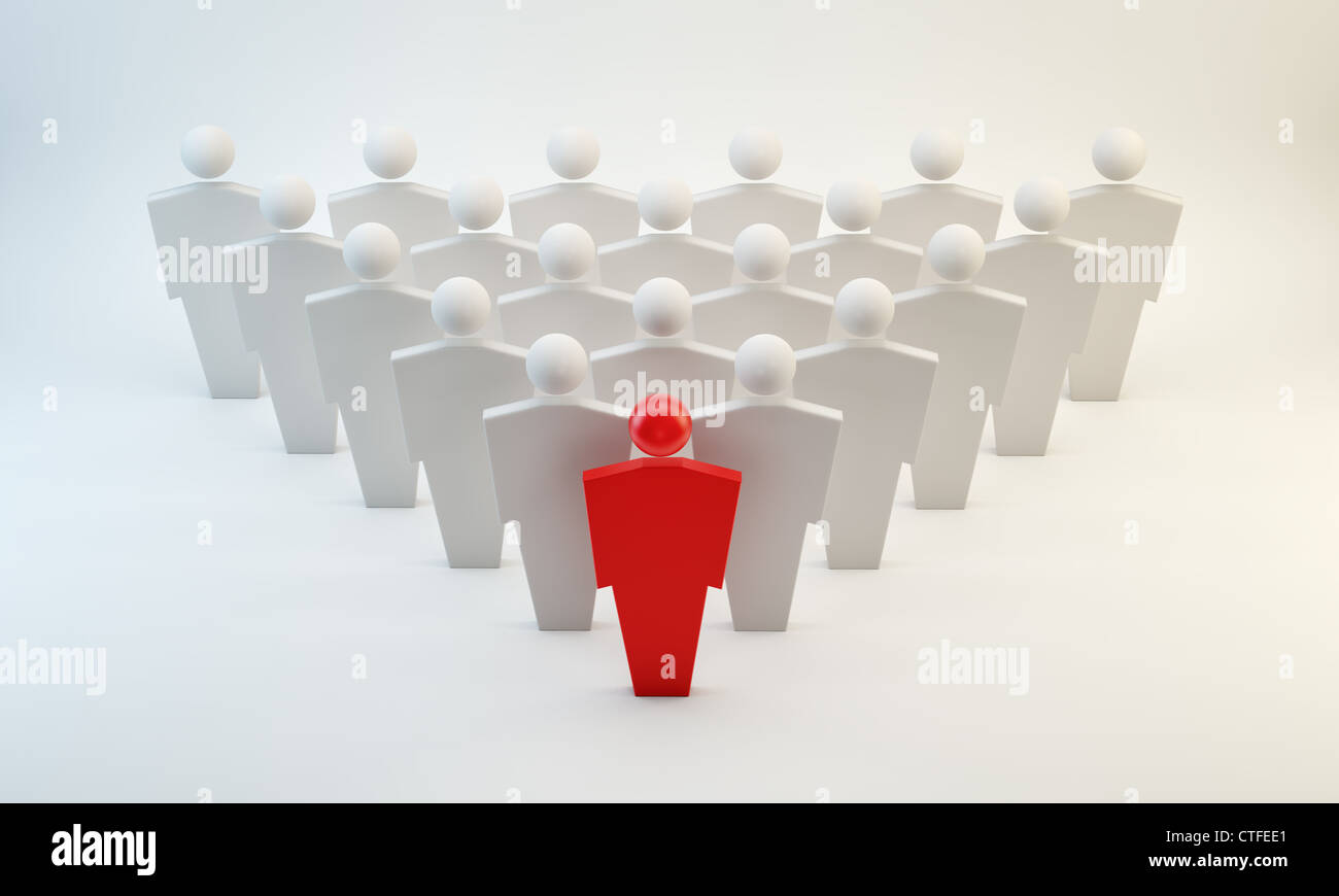 3D conceptual figures - leaders concept - Stock Image