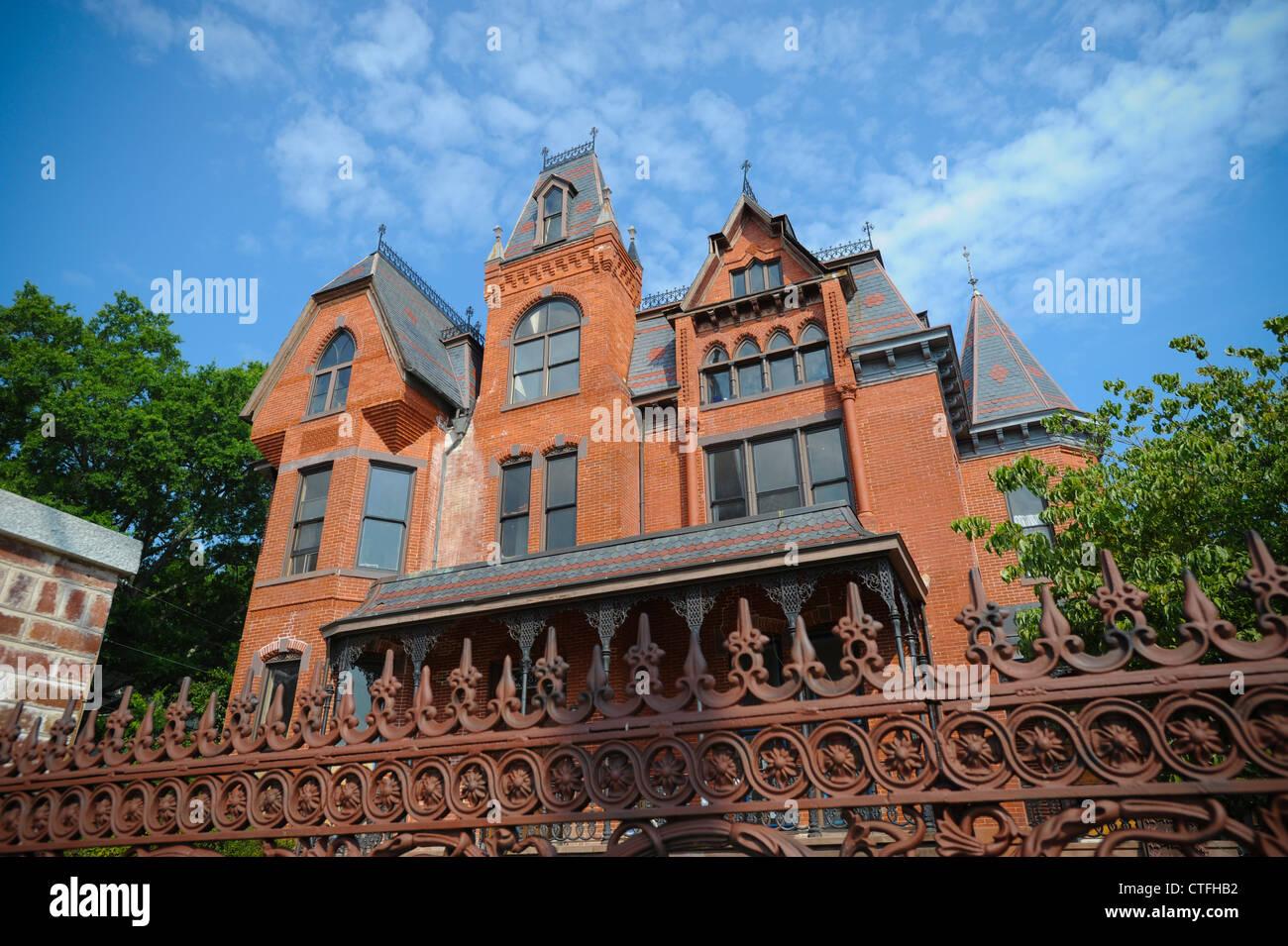 usa virginia danville virginia va historic home on main street stock