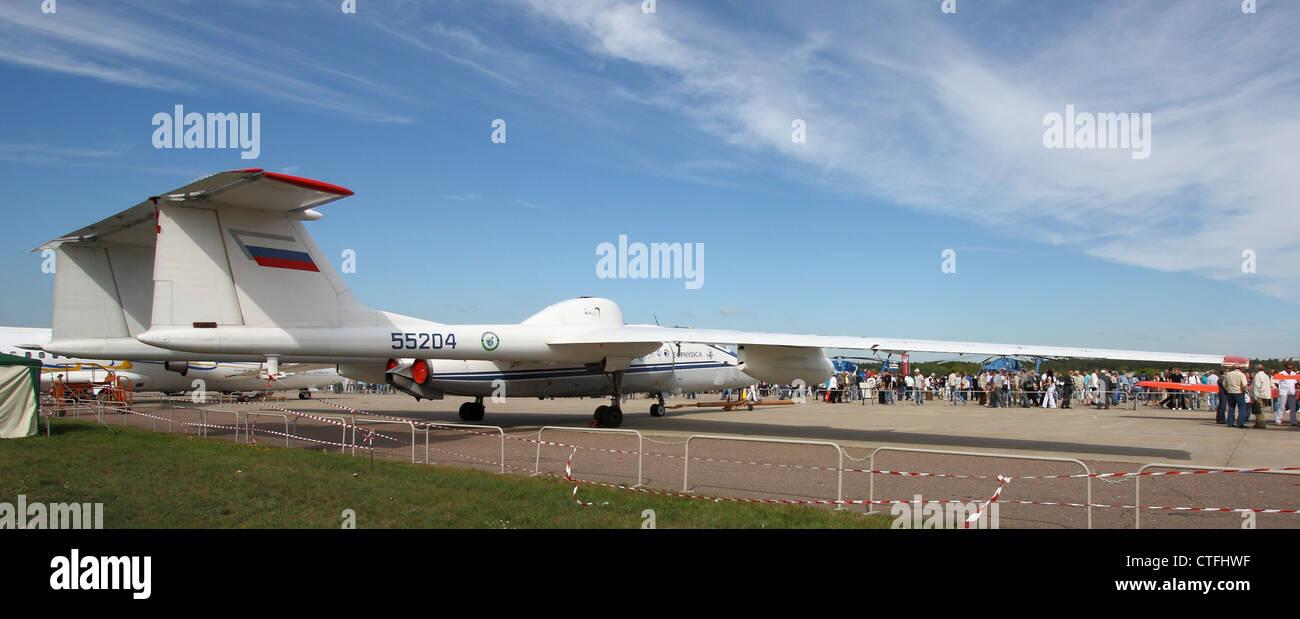 Reconnaissance aircraft Myasishchev M-55 Mystic-B (The international aerospace salon MAKS-2011) - Stock Image