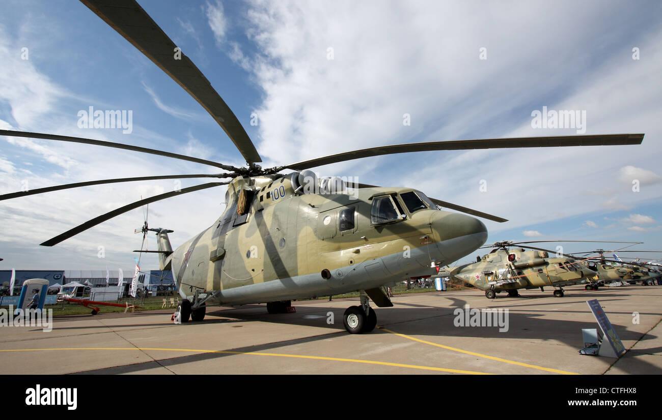 Helicopter Mil Mi-26 Halo (The international aerospace salon MAKS-2011 - Stock Image