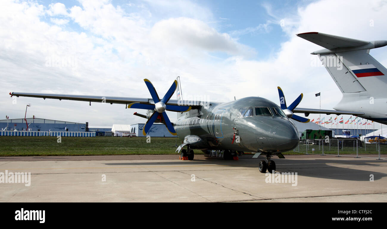 Antonov An-140-100 (The international aerospace salon MAKS-2011 - Stock Image