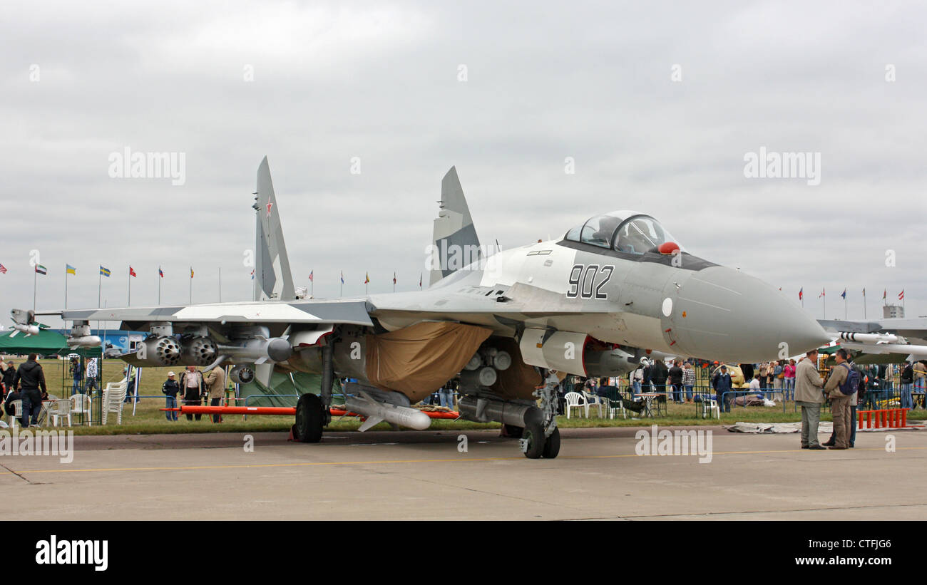 Sukhoi Su-35 (The international aerospace salon MAKS-2009 - Stock Image