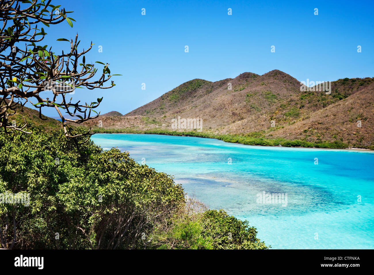 Shallow water at the edge of Leinster Bay - Stock Image