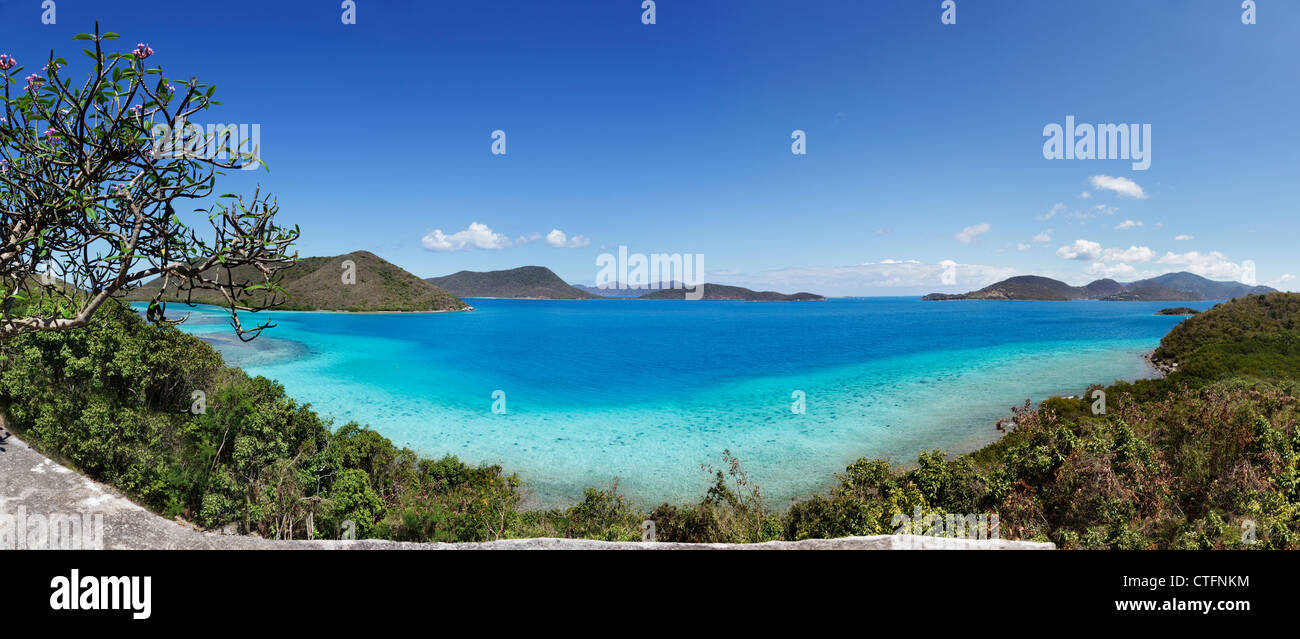 Leinster Bay and the British Virgin Islands from St. John - Stock Image
