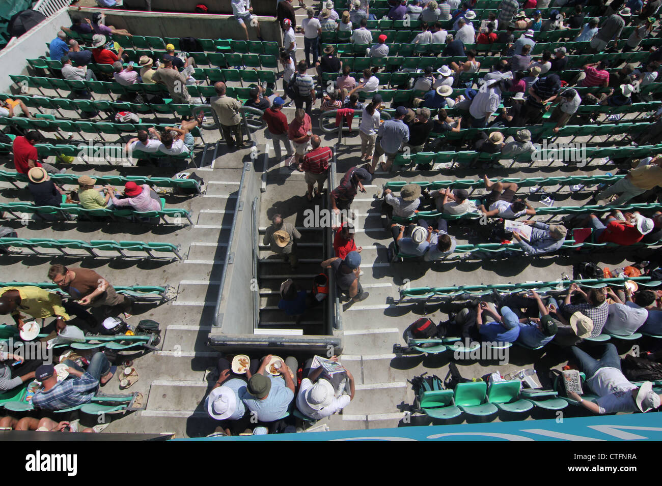 Spectators at England v South Africa. 2nd Test. 2012. The Oval cricket ground, Kennington, London, UK - Stock Image