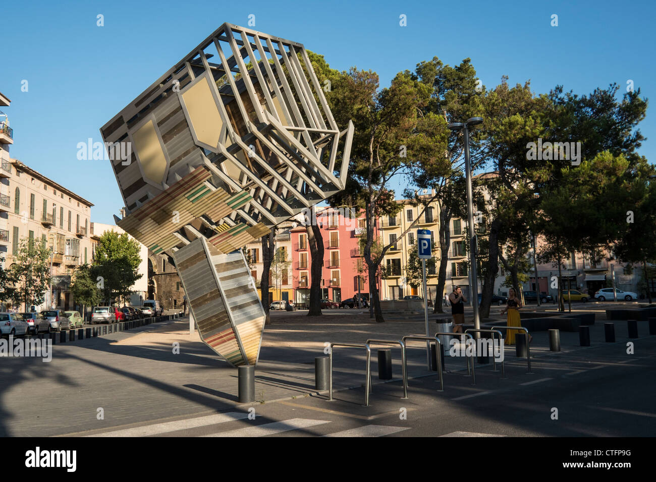Sculpture of an Up Ended Church, Palma, Mallorca, Spain. - Stock Image