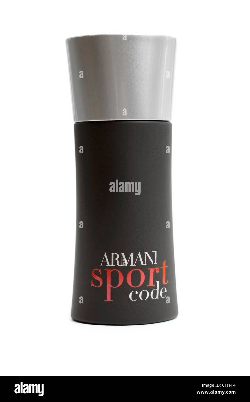 Bottle of Armani Sport Code - Stock Image