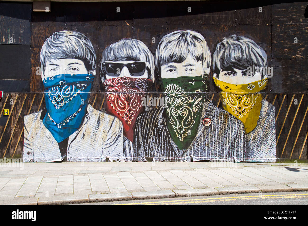 Paste-up by street artist Mr Brainwash in London depicting ...