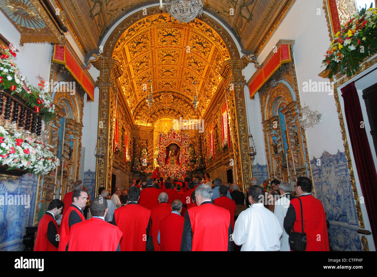 Religious festivities of Santo Cristo dos Milagres (Our Lord Holy Christ of Miracles) in Ponta Delgada, Azores islands - Stock Image