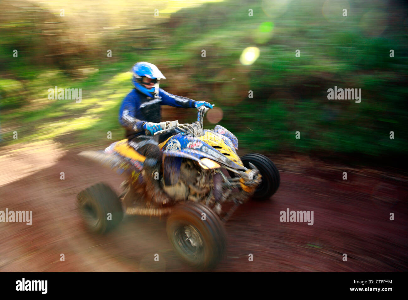 ATV offroad racing in Sao Miguel island, Azores islands, Portugal. - Stock Image