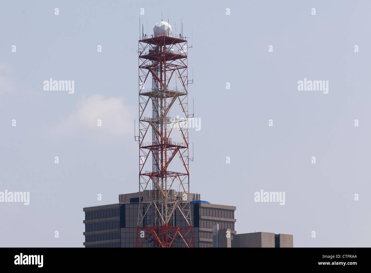 Doppler radar tower - Stock Image