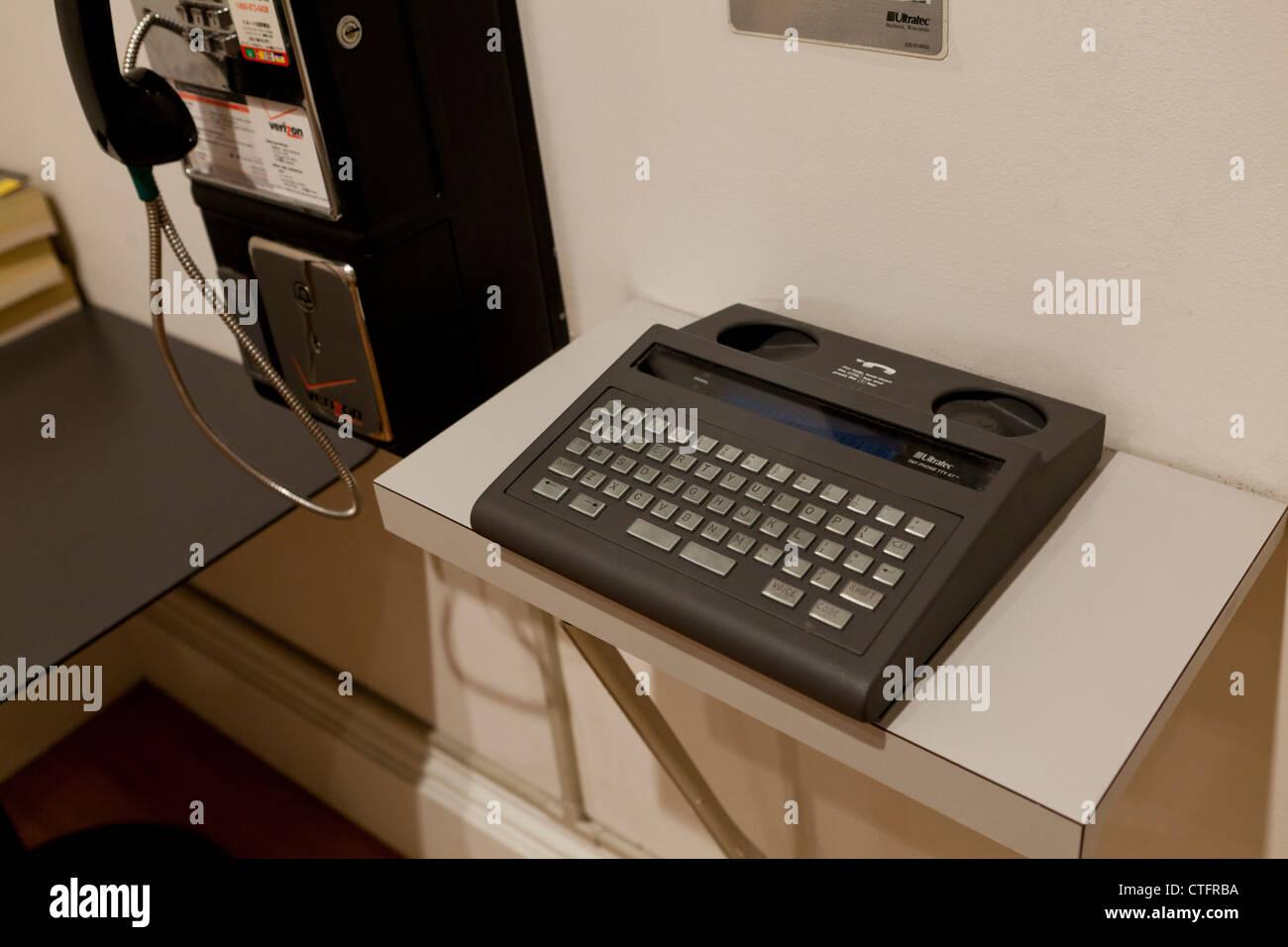 Public telex machine - Stock Image