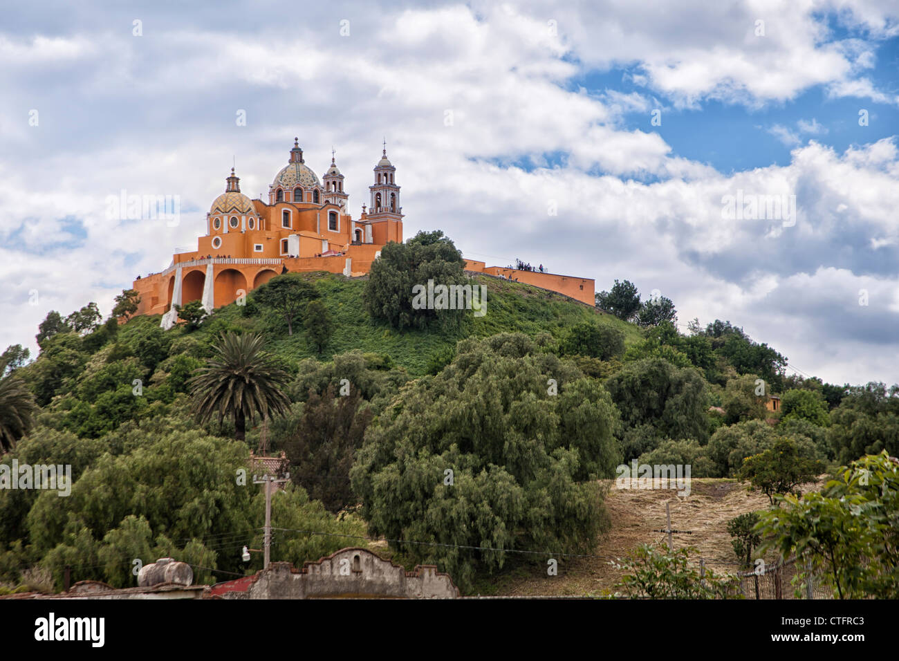 Church of Neustra Senor de los Remedios or Our Lady of Remedios - Stock Image