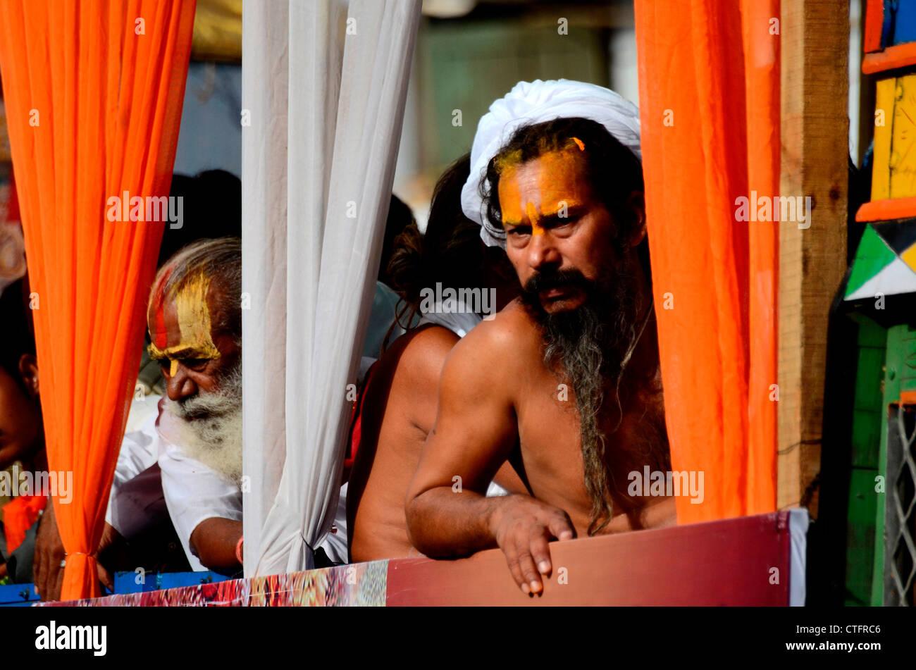 Indian priest- Sadhu - Stock Image