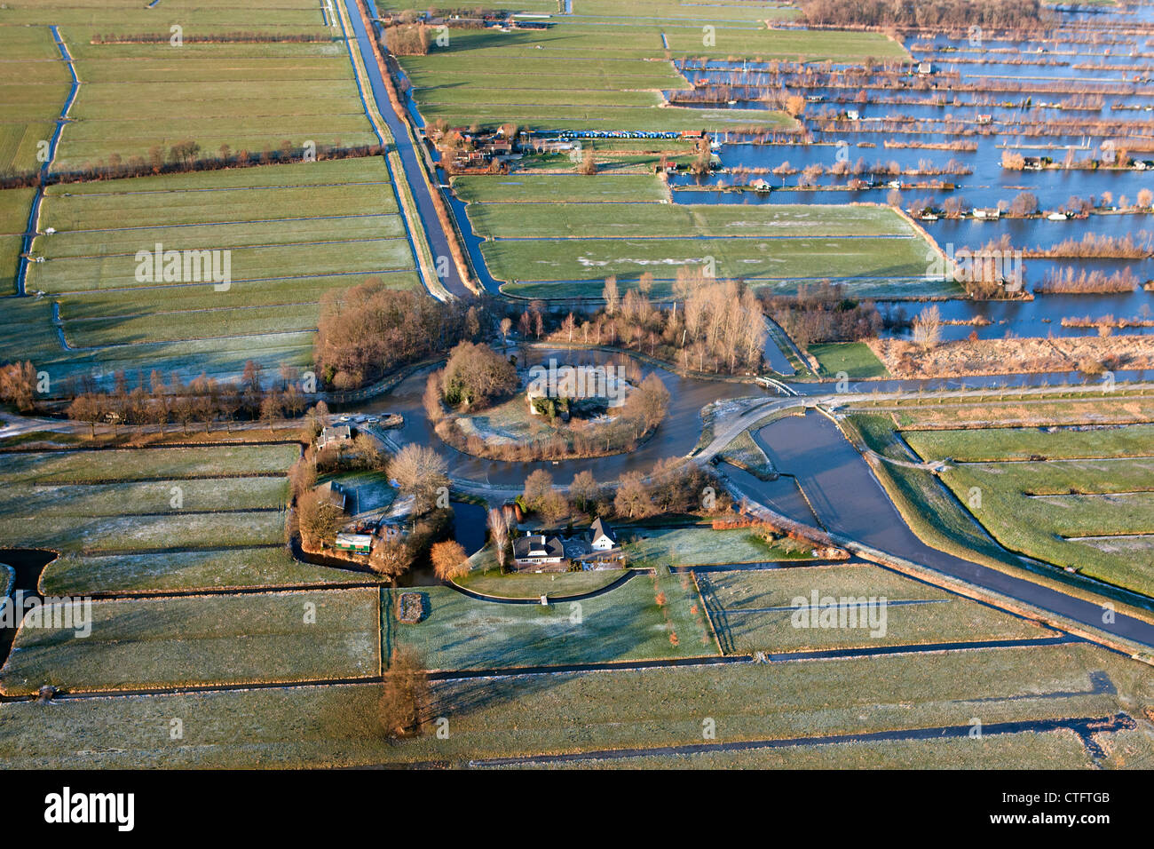 The Netherlands, Loosdrecht, Fort Spy, part of the New Dutch Waterline, a military line of defense. - Stock Image