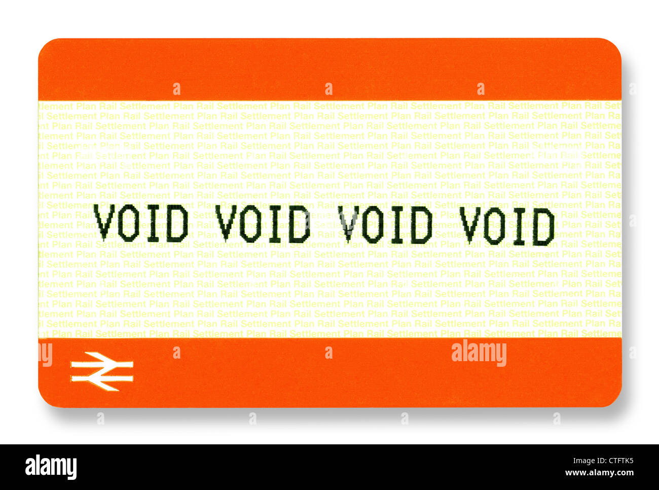 UK Rail tickets with 'VOID' printed on them. Genuinely obtained from a ticket-machine. - Stock Image