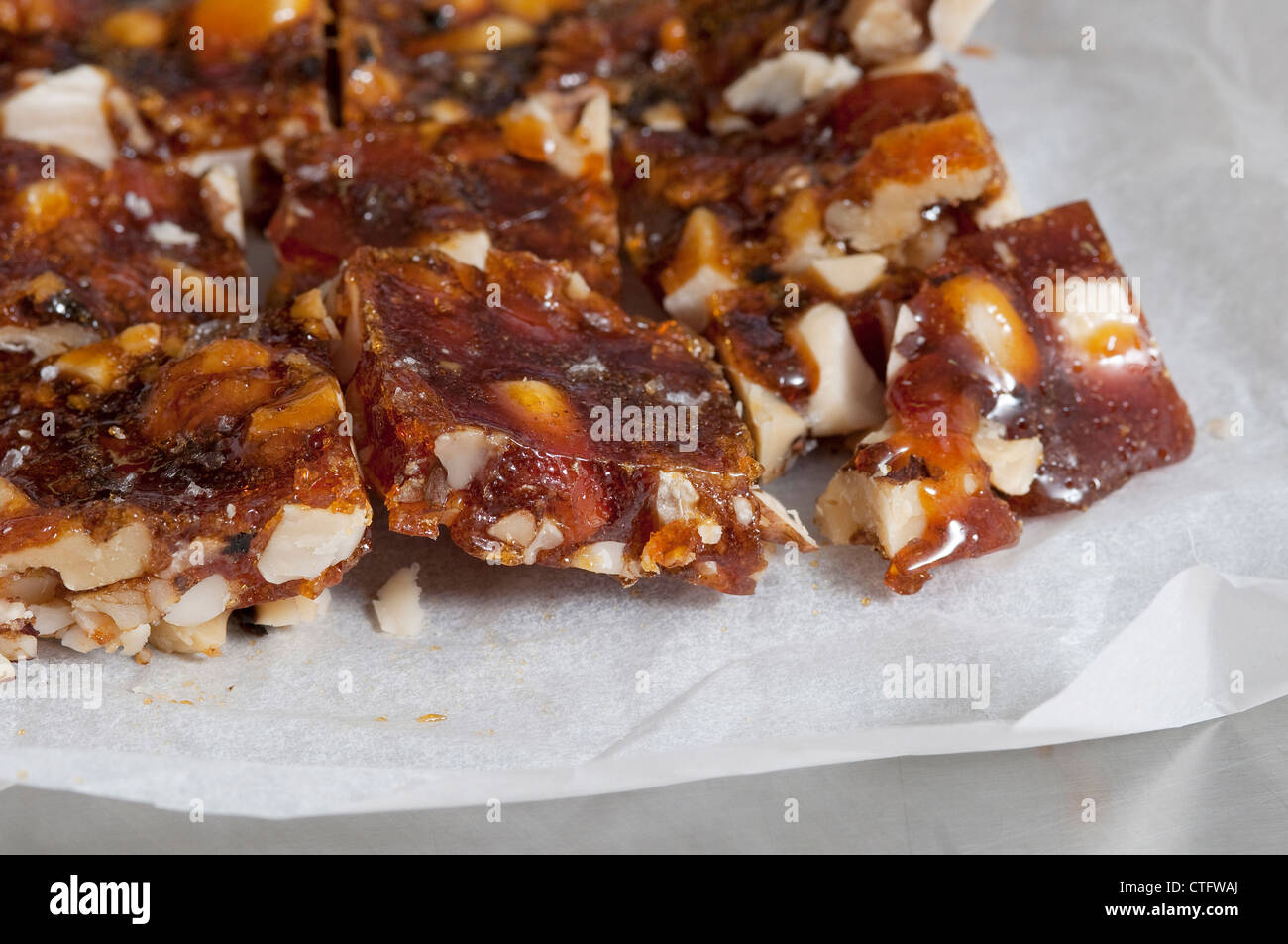 homemade toffee brittle - Stock Image