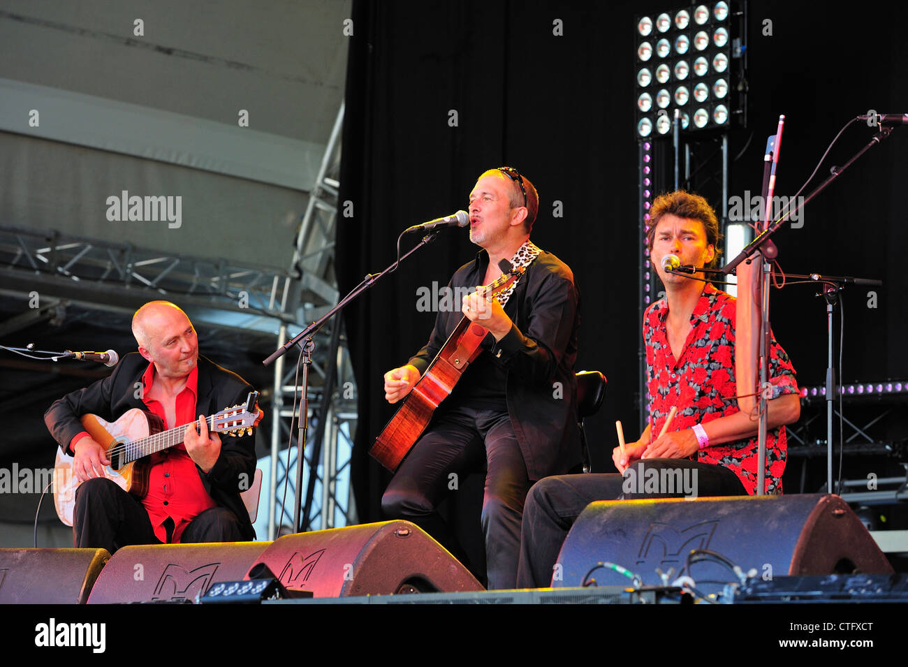 Music performance by Tio Pepe and the Bordellos at the Gentse Feesten / Ghent Festivities, Belgium - Stock Image