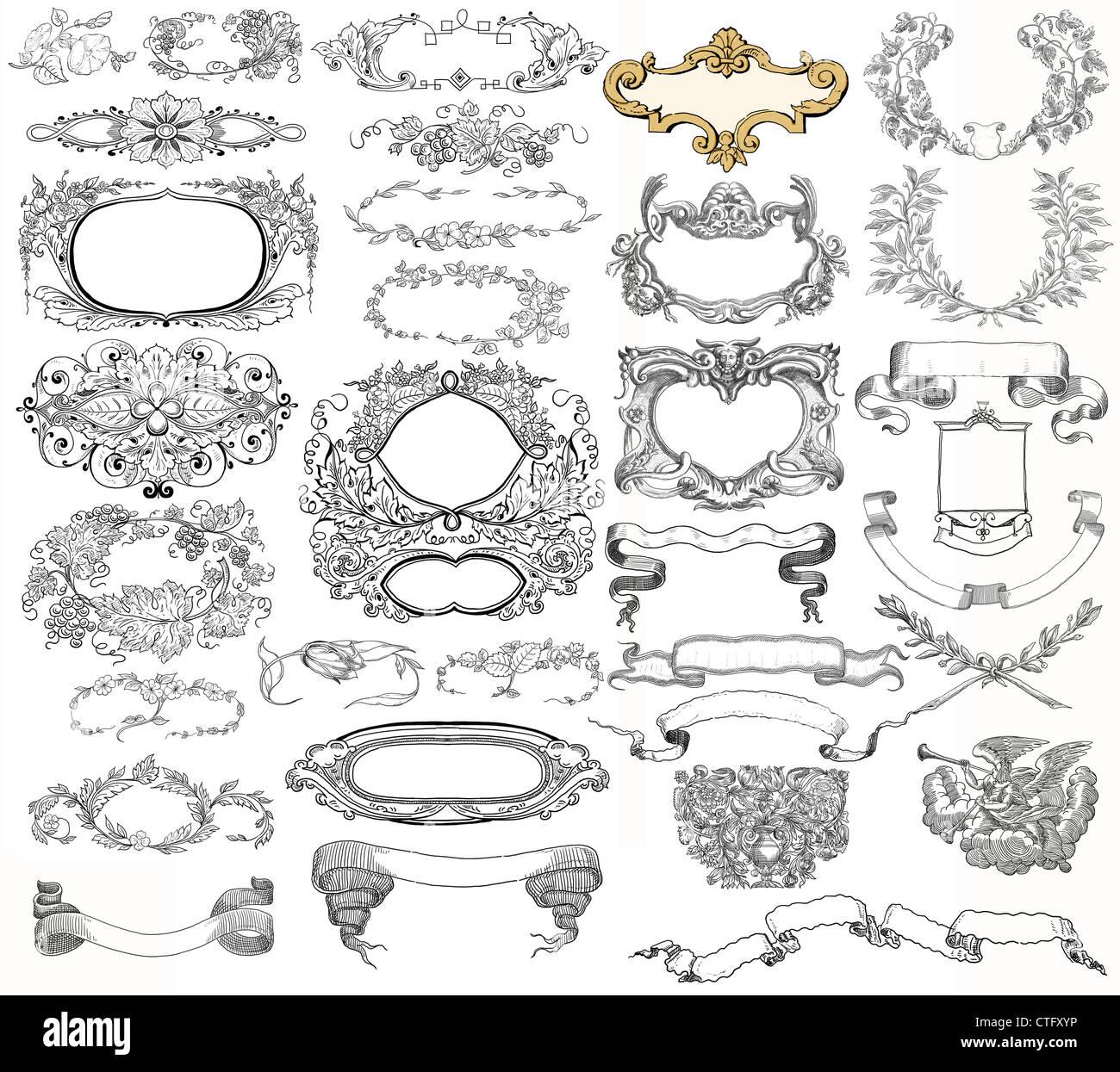 Cartouche set illustration Stock Photo: 49522922 - Alamy