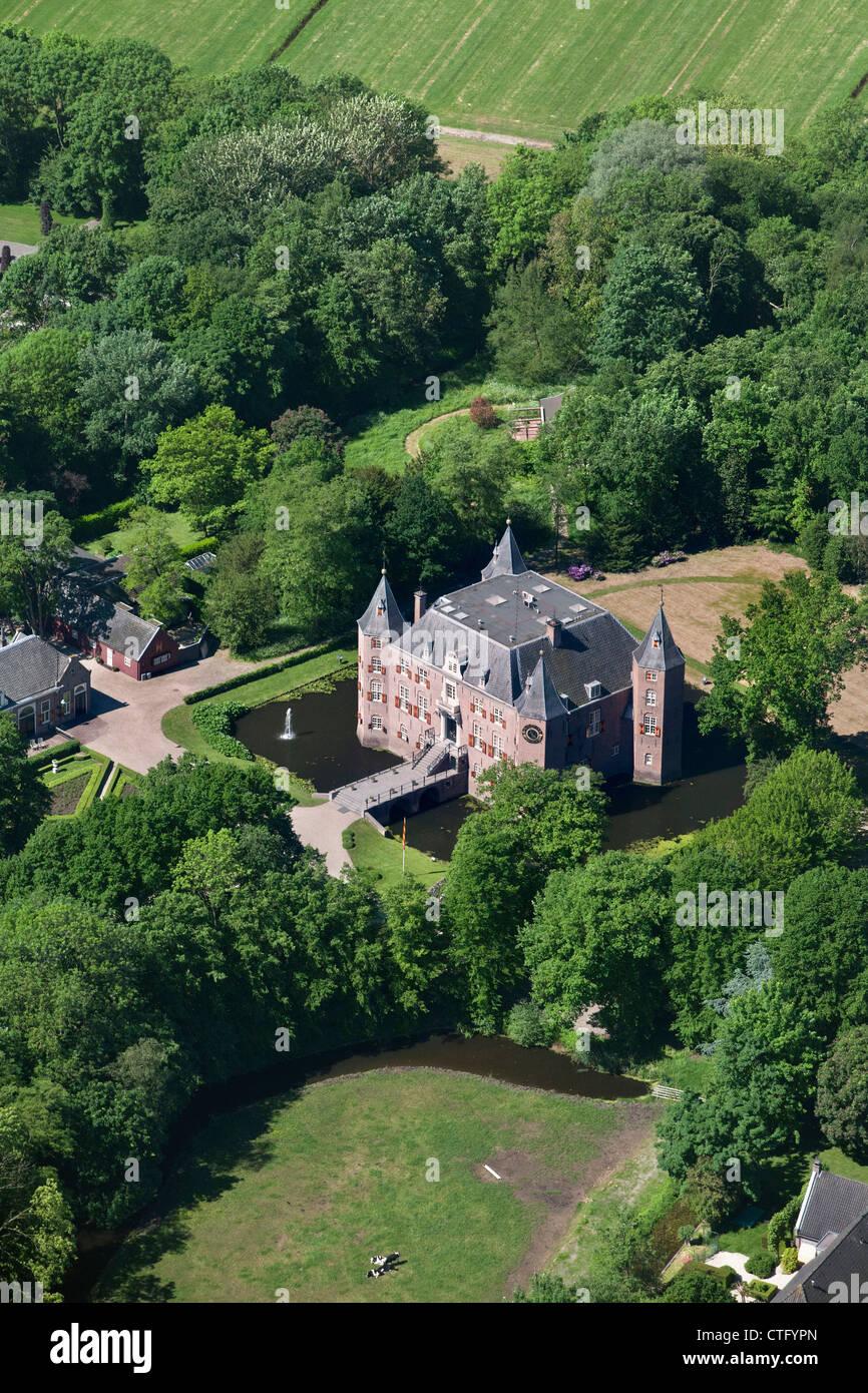 The Netherlands, Nederhorst den berg, Aerial. Castle Nederhorst. - Stock Image