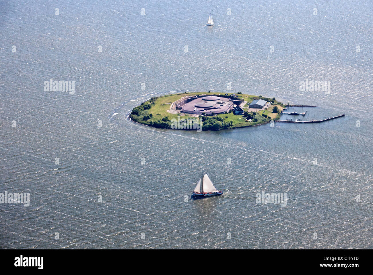 Netherlands, Muiden, Fort, island PAMPUS in IJmeer,  belonging to the Defence Line of Amsterdam. Unesco World Heritage - Stock Image