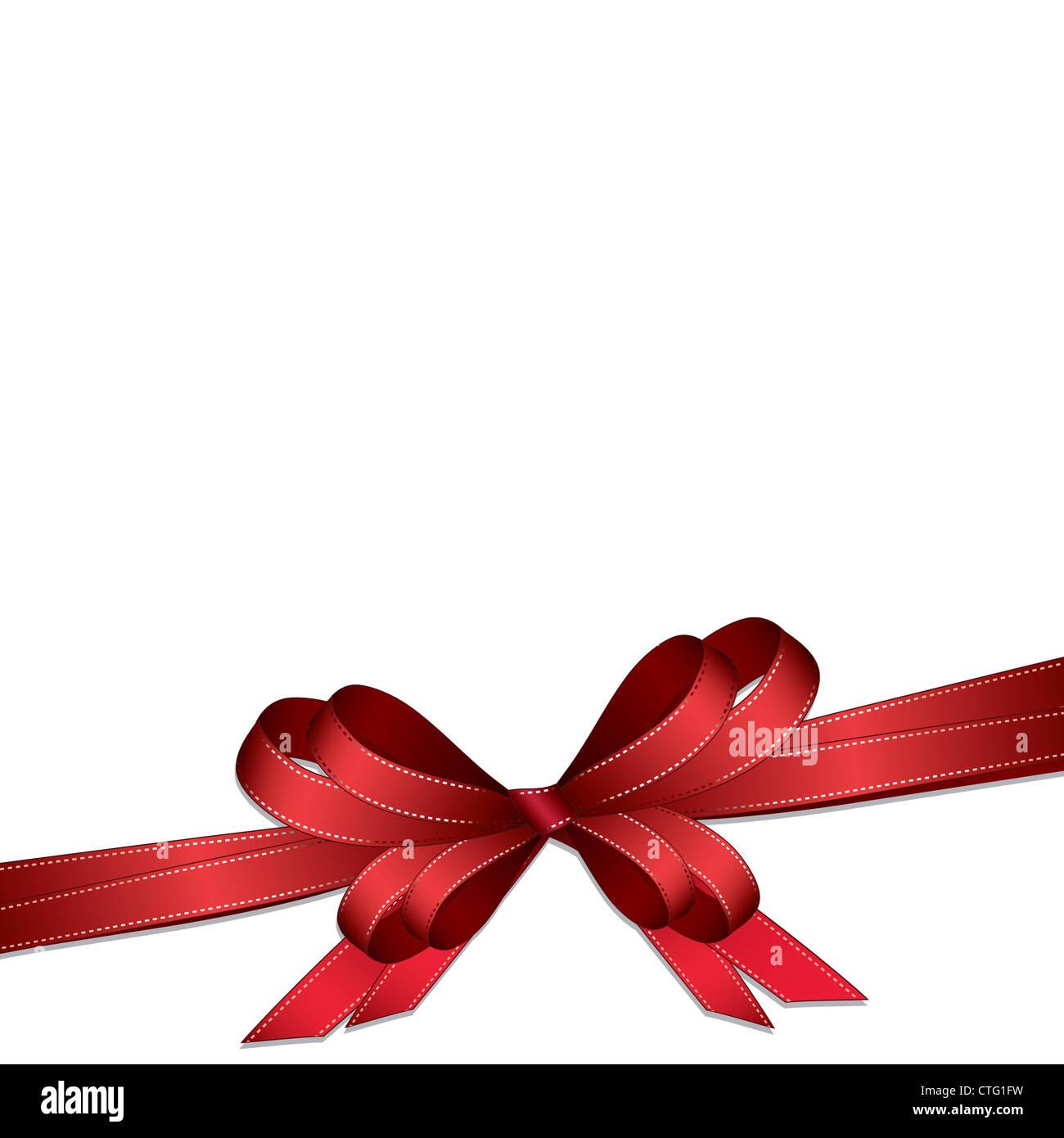 bow isolated on white background Stock Photo