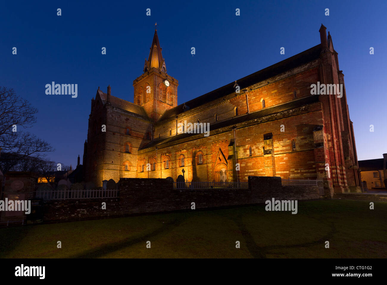 Orkney Kirkwall St Magnus Cathedral - Stock Image