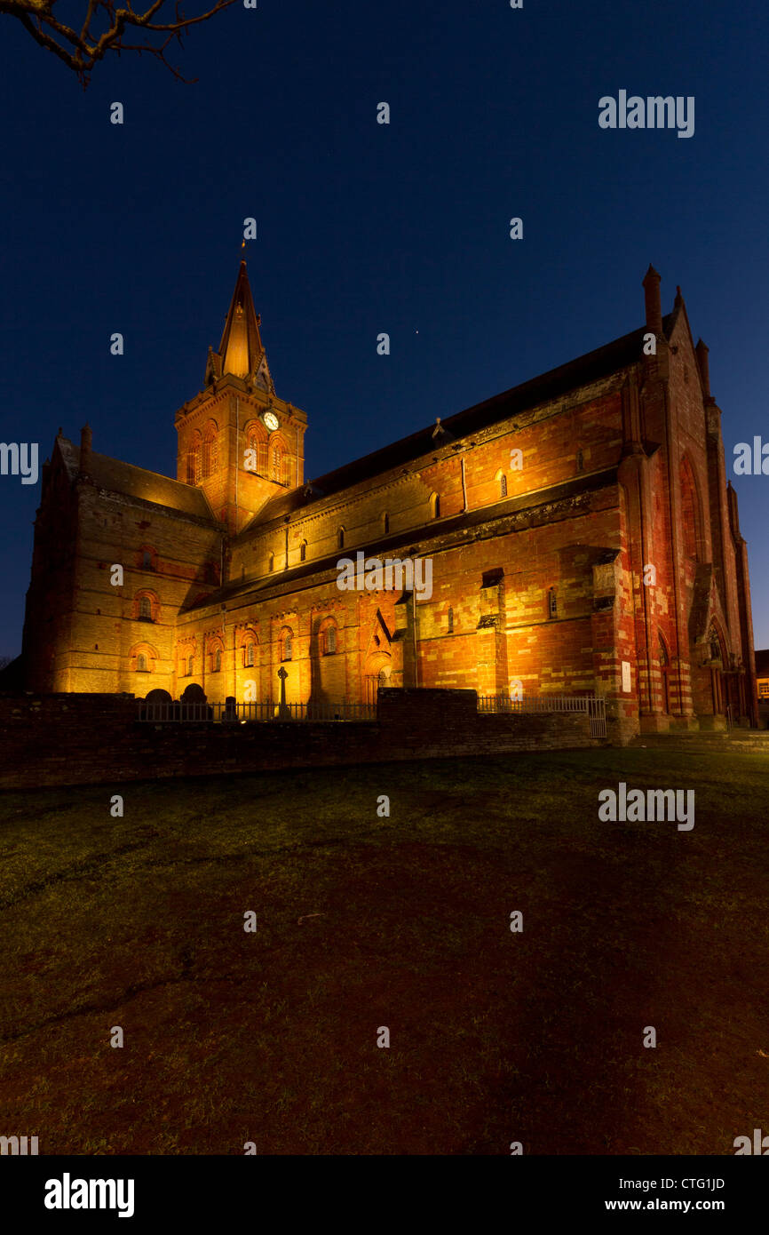 Orkney Islands, Kirkwall, St Magnus Cathedral - Stock Image