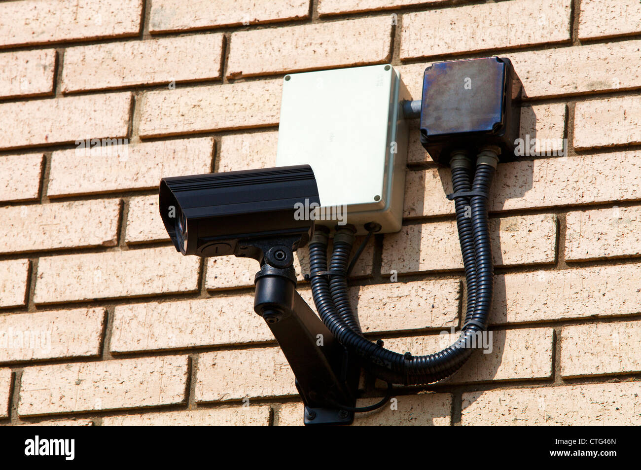 Wall mounted latest generation closed circuit tv security camera - Stock Image