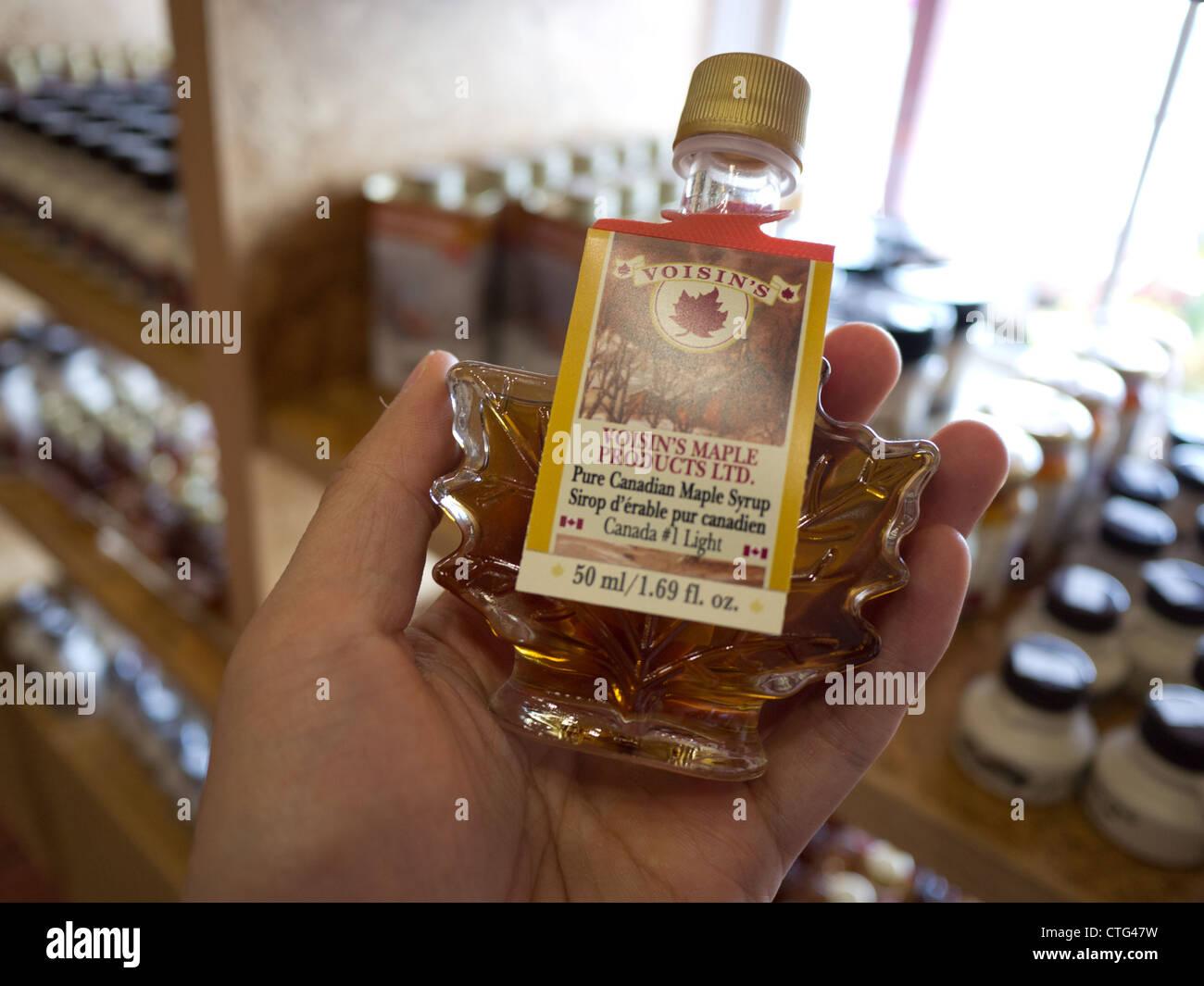maple syrup bottle canada - Stock Image