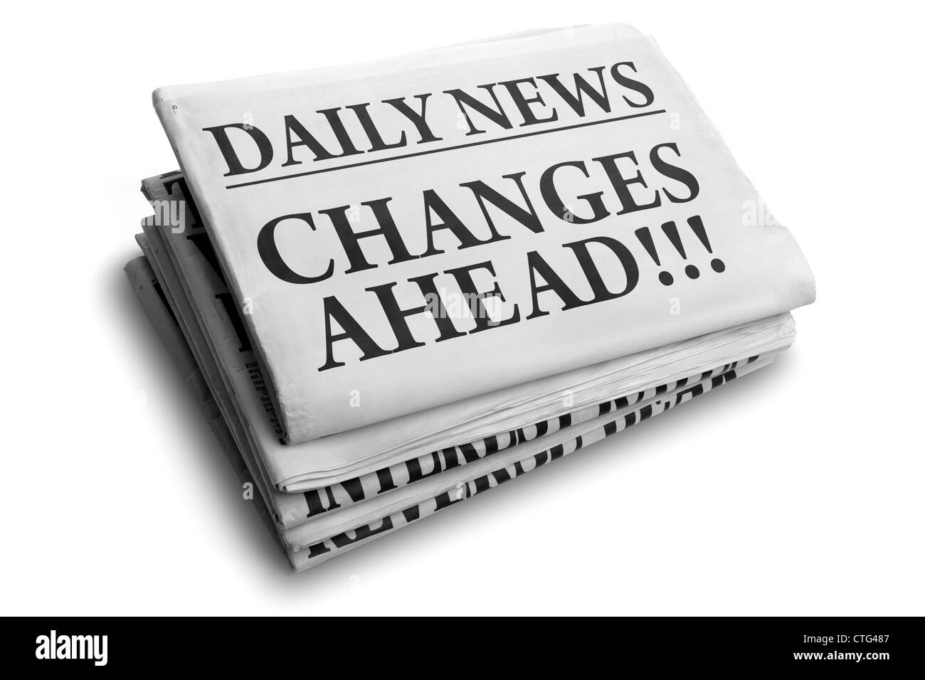 Changes ahead daily newspaper headline - Stock Image
