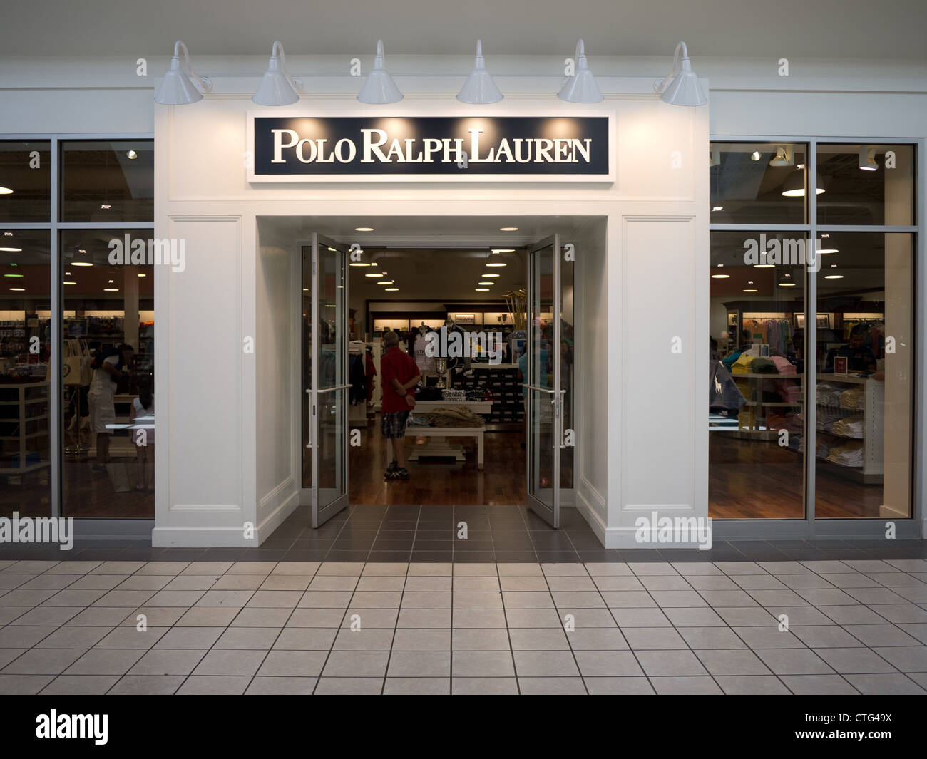 polo ralph lauren store entrance inside mall - Stock Image