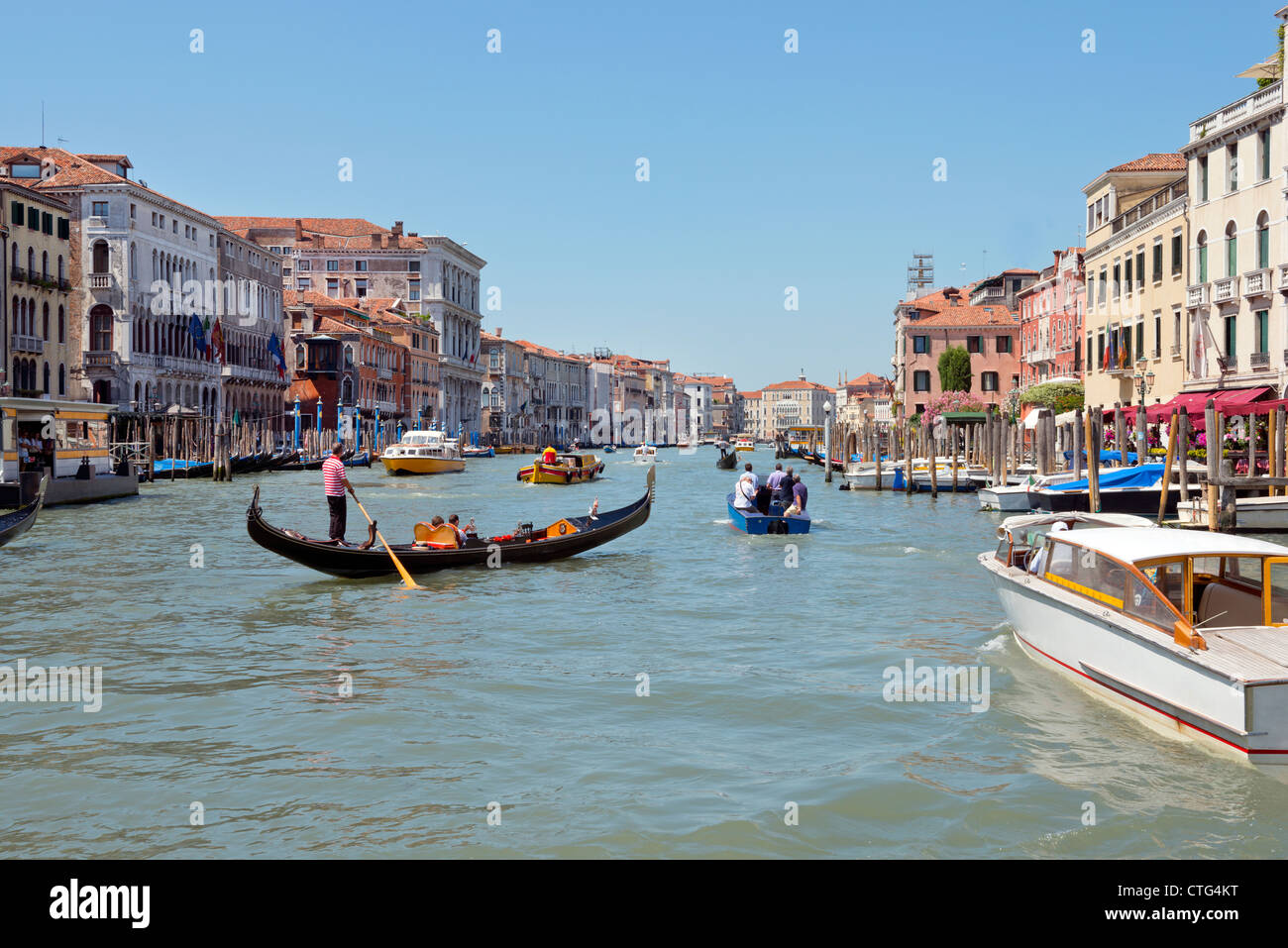 Cityscape of the Grand Canal Venice Italy Stock Photo