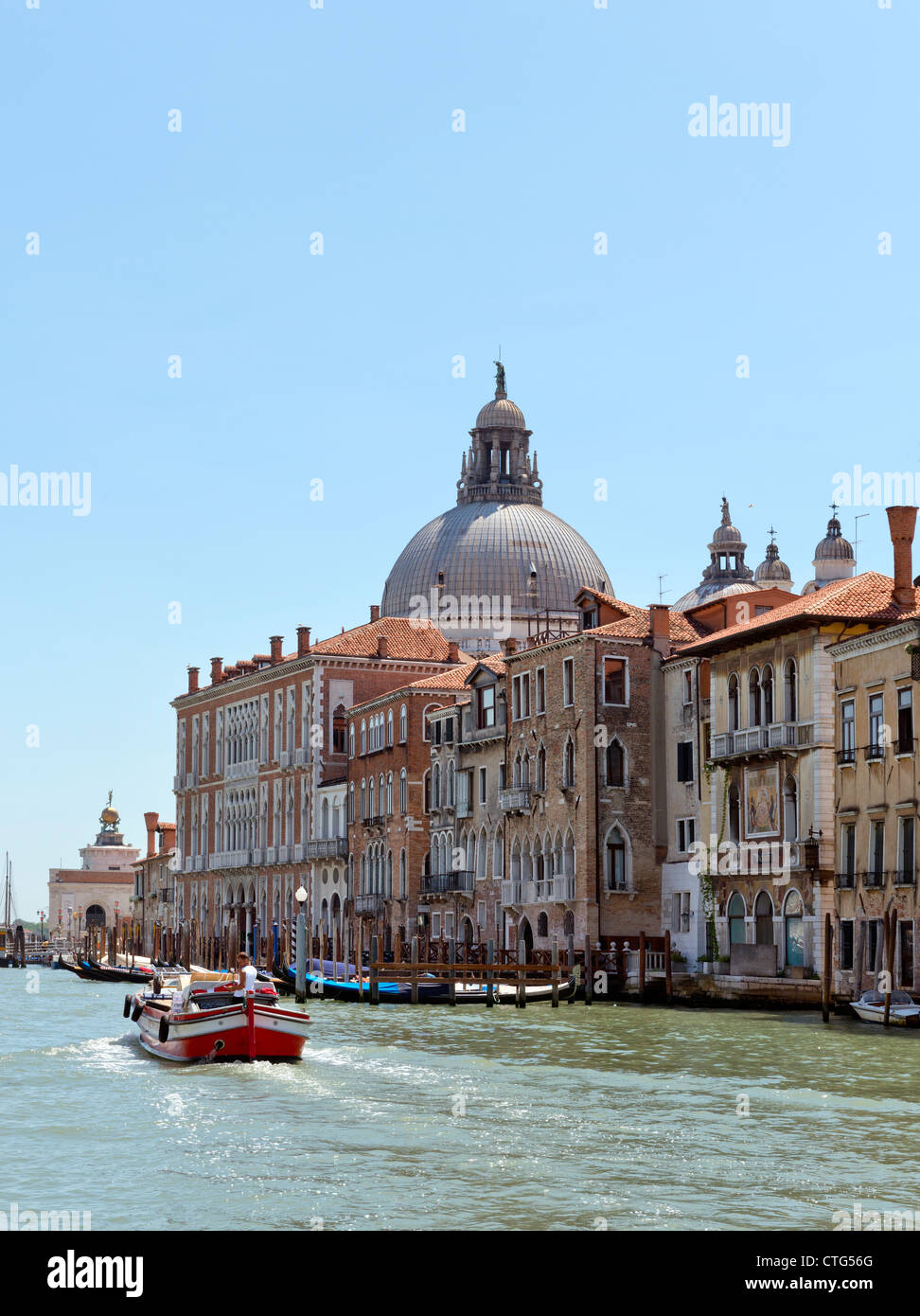 Cityscape on the Grand Canal Venice Italy Stock Photo